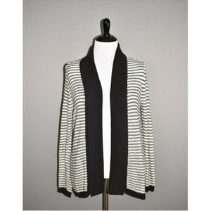 CHICO'S Striped Open Cardigan Sweater